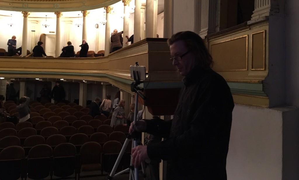 Spotkanie z prof. Janem Miodkiem Teatr Modrzejewskiej Legnica Jaromir Kopp