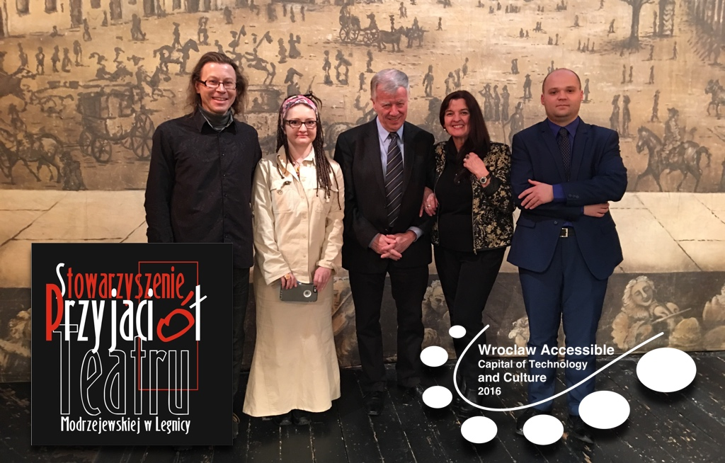 Sesja #WroAccessible16 z Prof. Janem Miodkiem w Teatrze im. Heleny Modrzejewskiej w Legnicy