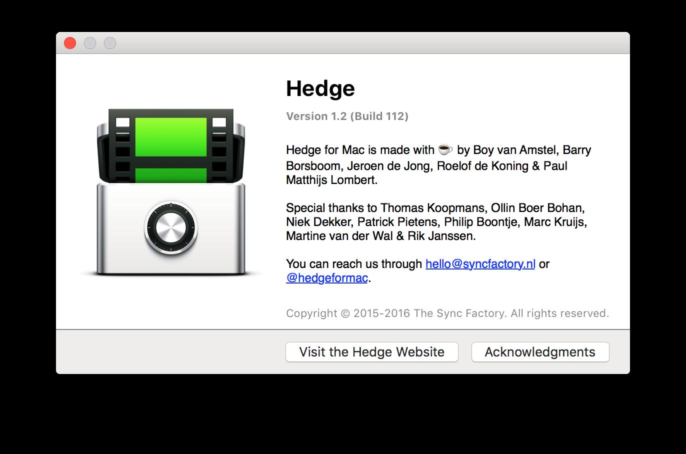 Aktualizacja Hedge for Mac