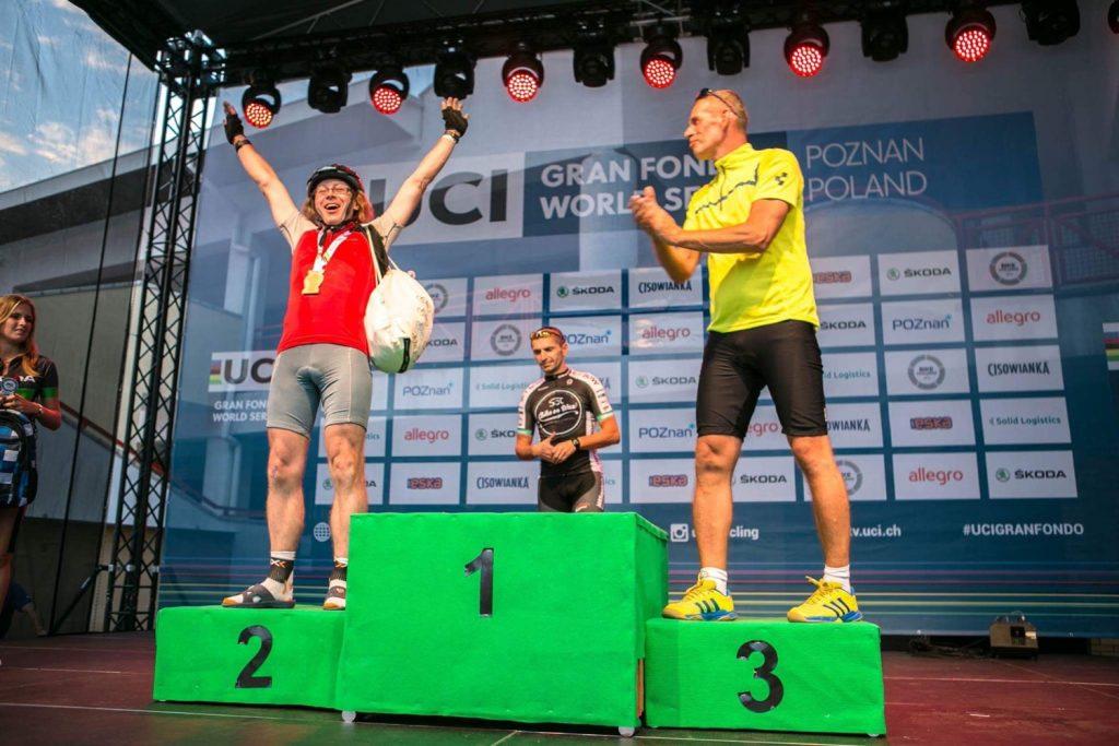 Jaromir na pudle Bike Challenge (fot. X-Bionic Polska)