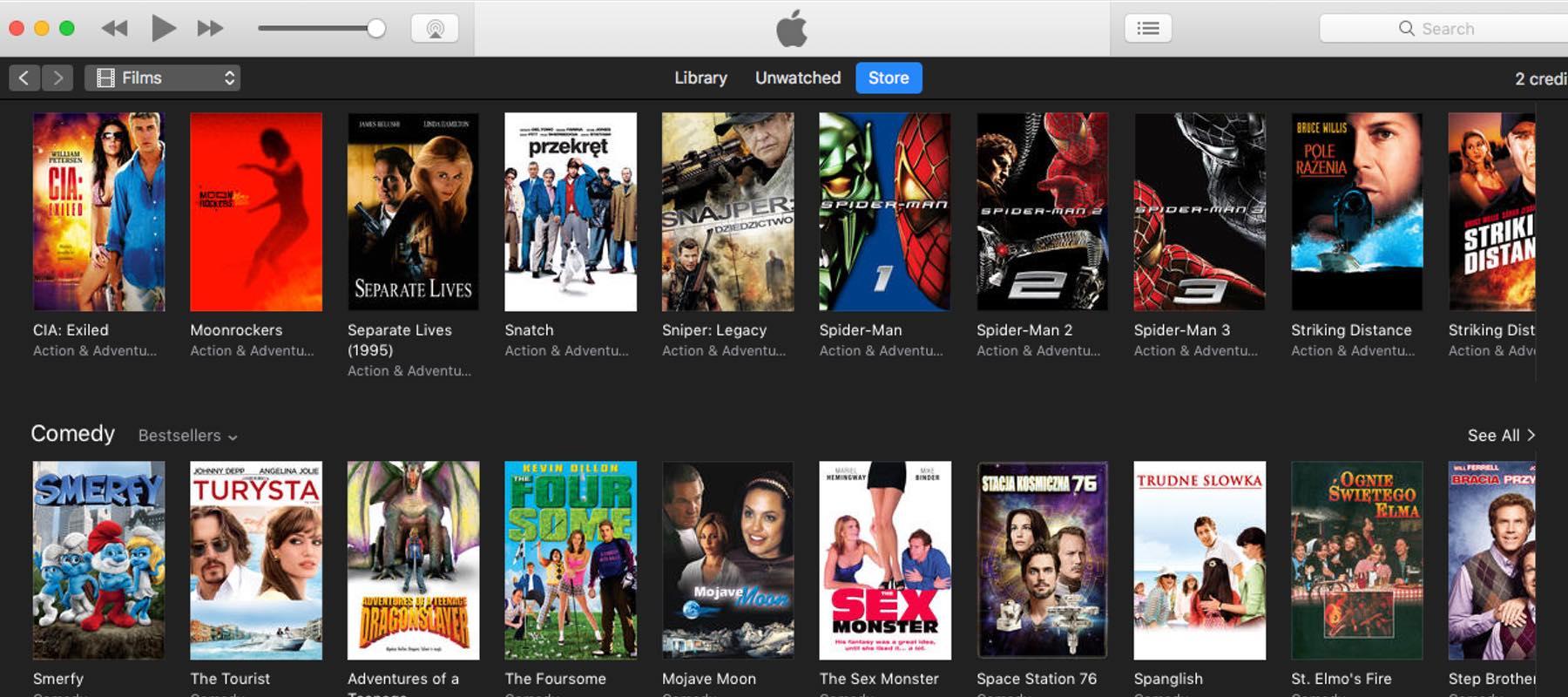 Filmy w iTunes – promocje na wypożyczenie (SD) 9.09.2017