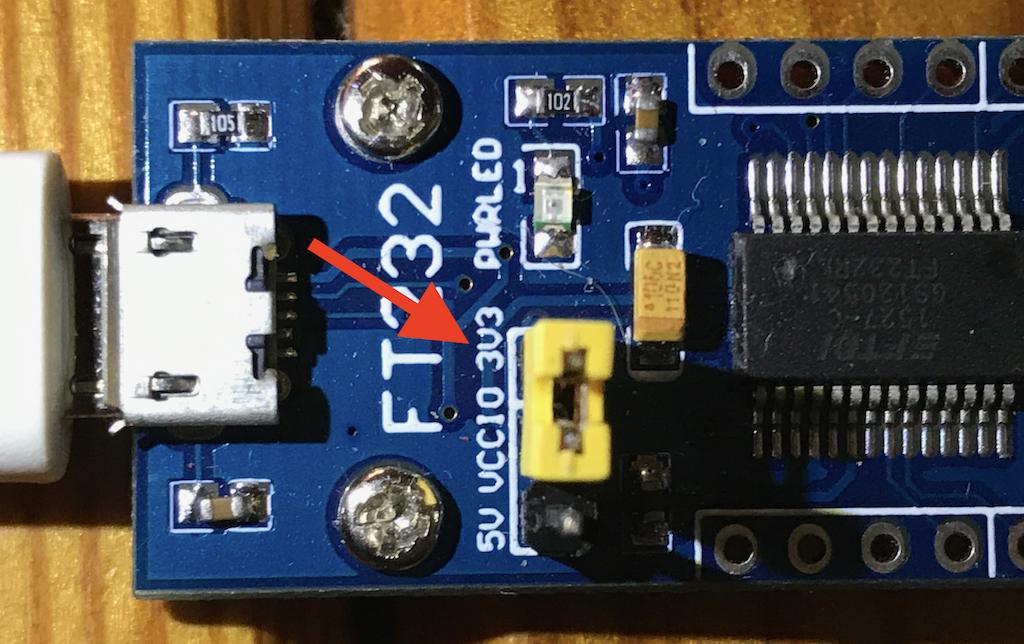Adapter USB-TTL zworka zasilania 3,3 V
