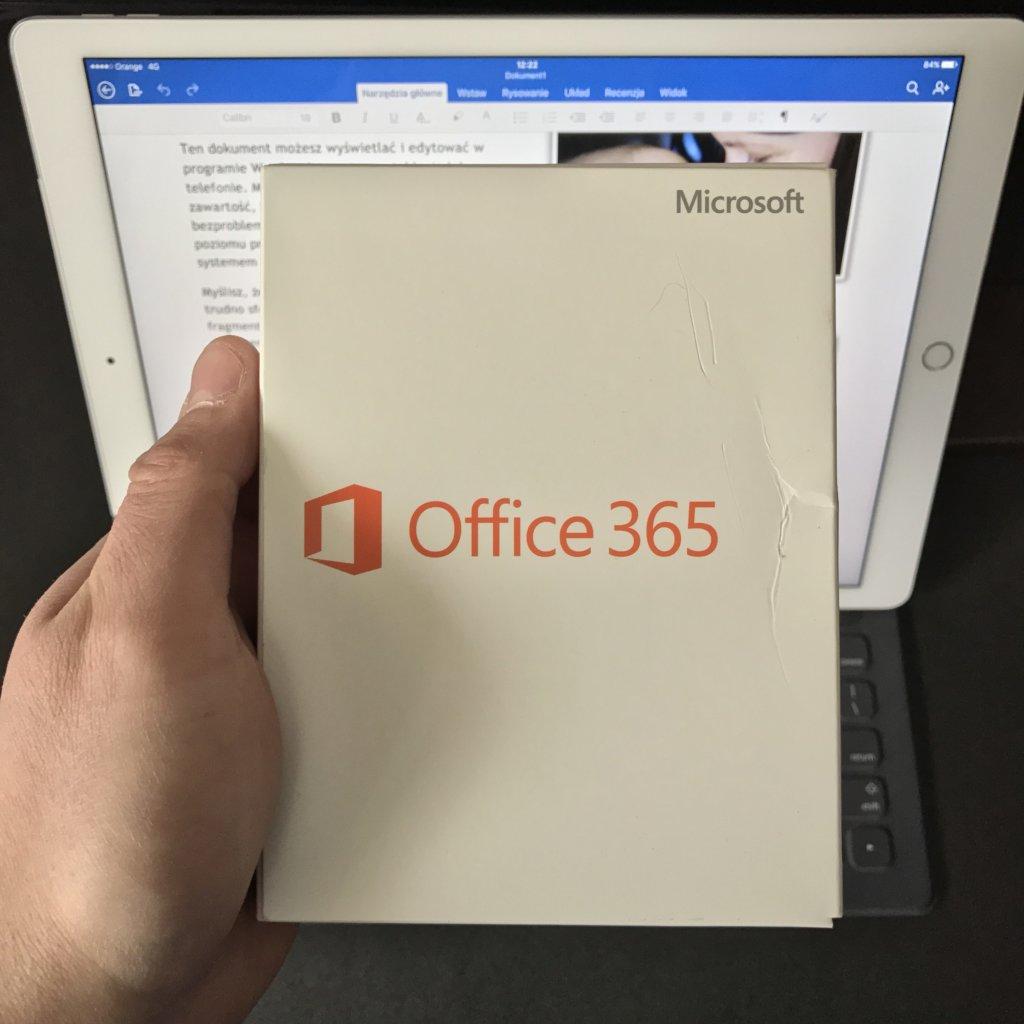 Opakowanie z licencją Microsoft Office 365
