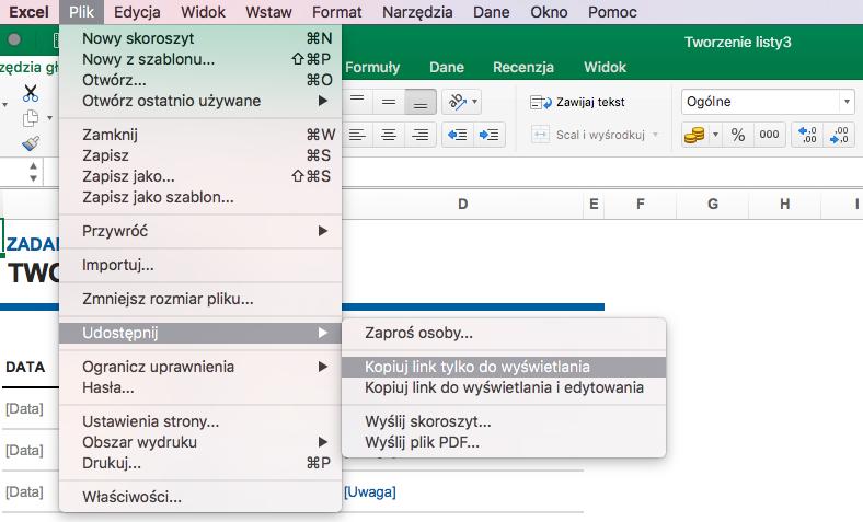 Udostępnianie dokumentów Microsoft Office 365
