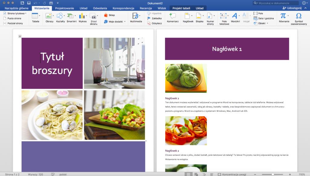 Broszura w Microsoft Word