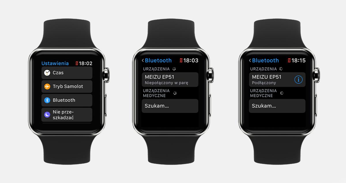 Parowanie słuchawek z Apple Watch