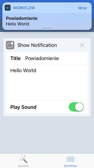 Show Notification - automatyzacja Przypomnień