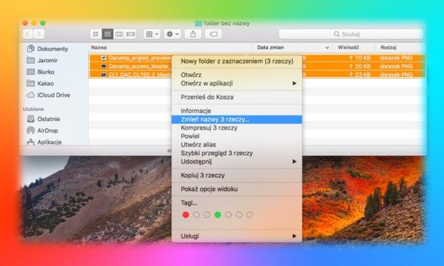 Jak szybko zmienić nazwy wielu plików w macOS