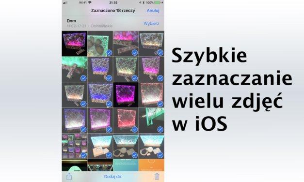 Szybkie zaznaczanie wielu zdjęć w iOS
