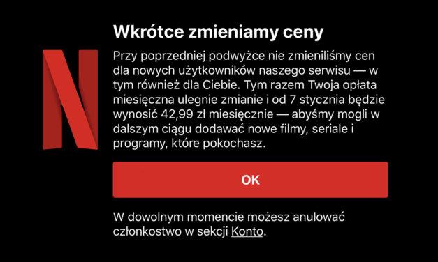 Netflix podnosi ceny subskrypcji w App Store