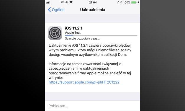 iOS 11.2.1 aktualizacja, która naprawia HomeKit