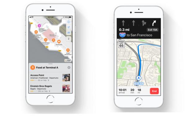 Nawigacja wewnątrz budynków w iOS 11