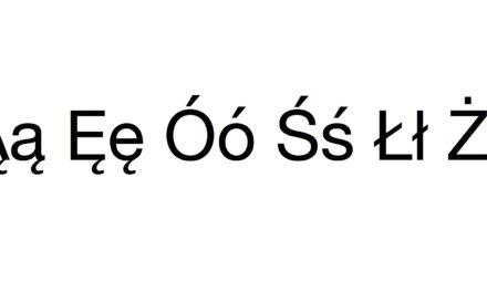 Jak pisać polskie znaki z prawym przyciskiem Command. Tak jak w Windowsie.