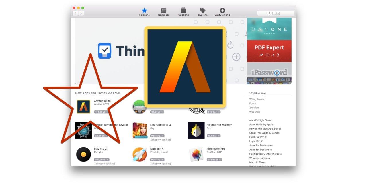 Artstudio Pro na iOS i macOS wyróżnione i w obniżonej cenie