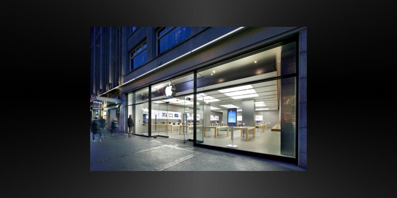 Incydent podczas wymiany baterii w Apple Store w Zurychu