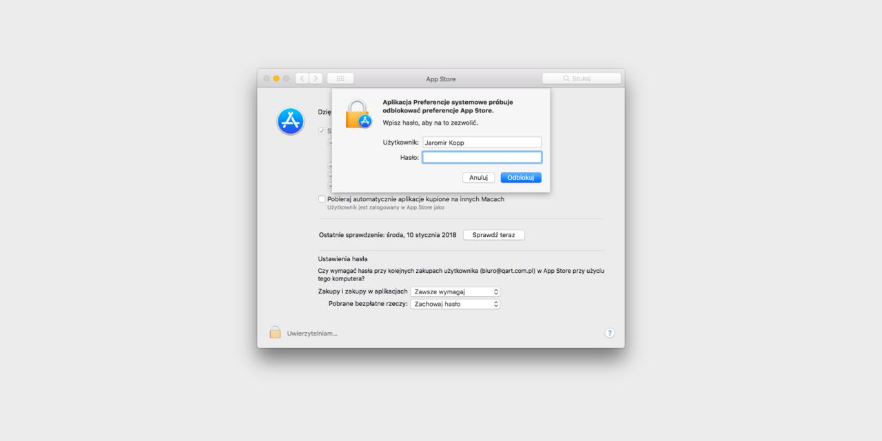 Preferencje App Store bez podawania hasła, kolejna wpadka?