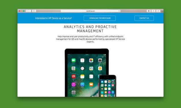 Sprzęt jako usługa, HP wyprzedza Apple wprowadzając HP DaaS for Apple