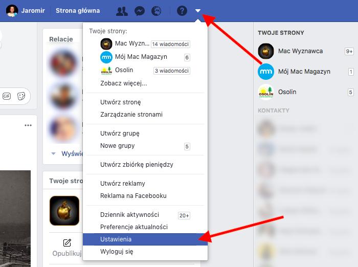 Pobieramy kopię swoich danych z Facebooka 1