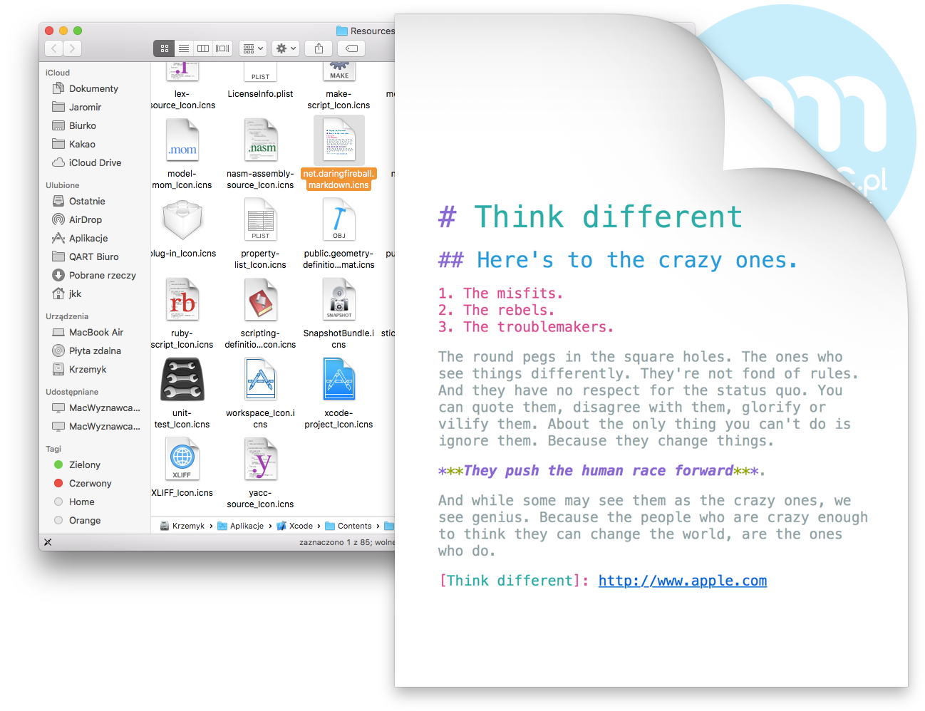 Think different w Xcode