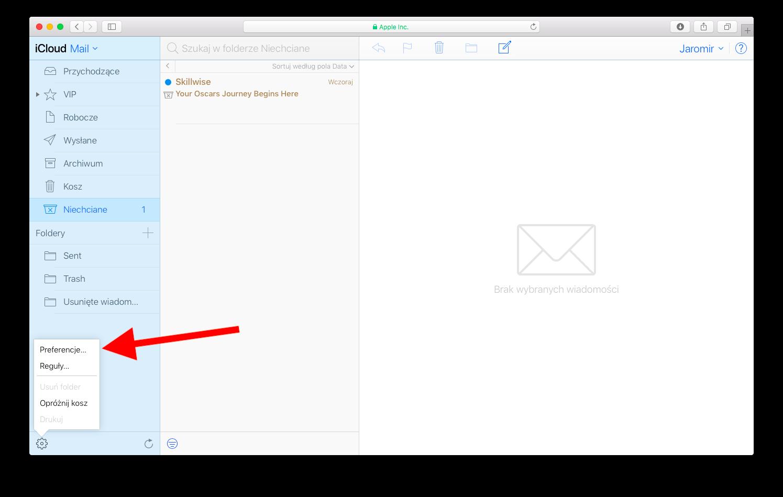 Urlop z pocztą w iCloud 2