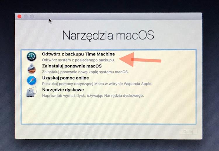 Odtwarzanie migawek na macOS 10.13 High Sierra 1