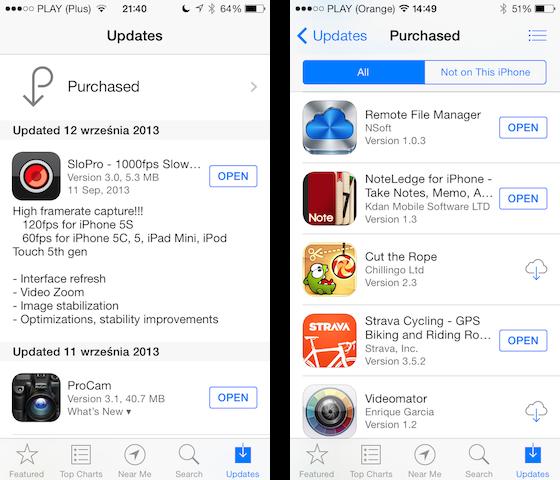 App Store w 2013 już z iOS 7