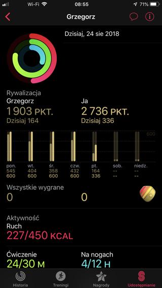 Jak rywalizować ze znajomymi w watchOS 5 Aktywność app