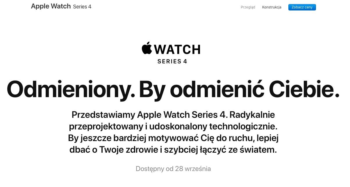 Apple Watch S4 w Polsce
