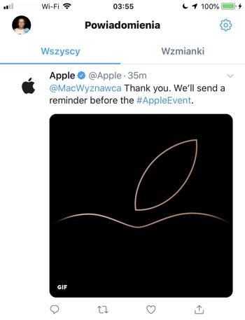 Konto Apple na Twitterze przemówi do Ciebie