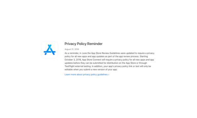Polityka prywatności obowiązkowa w App Store
