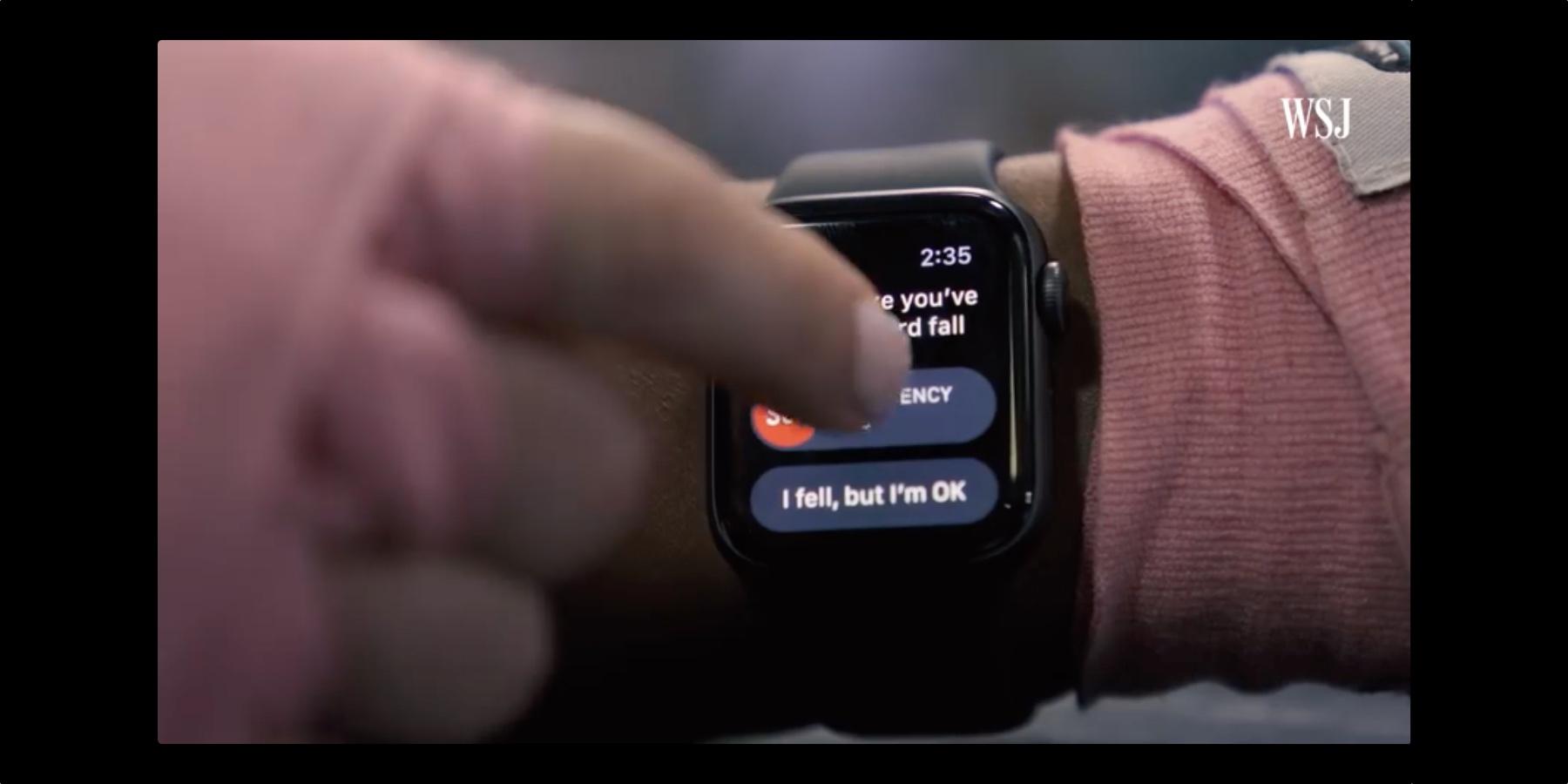 Apple Watch s4 wykrywa upadek? WSJ to sprawdził
