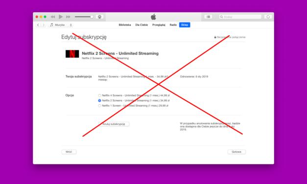 Netflix kończy z subskrypcjami Apple